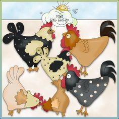 Country Cluckers 1 - NE Cheryl Seslar Clip Art : Digi Web Studio, Clip Art, Printable Crafts & Digital Scrapbooking!