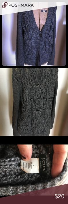 J crew wool blend grey cardigan size L J crew grey wool blend cardigan size large J. Crew Sweaters Cardigans