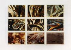 Alongside details of Colour Samples and experiments like the Inpaintings in several colours Richter also took photographs of the thick layers of paint that came from tempering different colours.