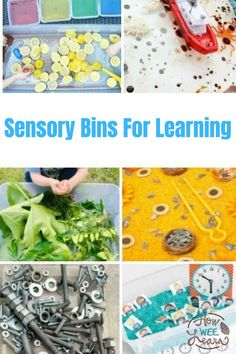 These sensory bins are perfect for kindergarten and preschoolers. The sensory activities are full of learning - letters, numbers, STEM challenges and more! Educational Activities For Preschoolers, Creative Activities For Kids, Preschool Education, Preschool At Home, Creative Play, Sensory Bins, Sensory Activities, Sensory Play, Sensory Table