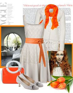"""""""fresh touch of orange"""" by bodangela ❤ liked on Polyvore"""
