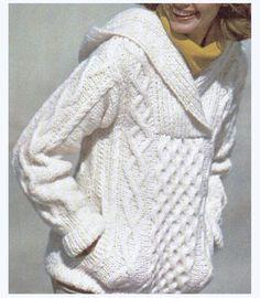 Aran tricot pull à capuche motif Super doux par CowichanValley