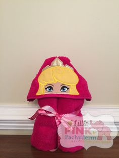 Girly hooded towel