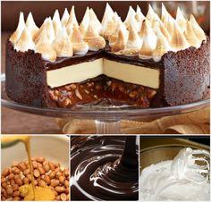 Triple Chocolate Cheesecake with Peanut Caramel