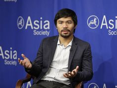 Manny Pacquiao apologizes for saying gay people are 'worse. Manny Pacquiao apologizes for saying gay… Manny Pacquiao, Pacquiao Fight, Asia Society, World Boxing, Gay, Ford Maverick, Sports Channel, Boxing Champions, Magic Johnson