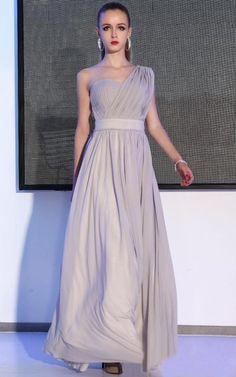 One Shoulder Elegant A-line Belt Waist Bridesmaid Dresses A-Line Wedding Dresses | Buy Wholesale On Line Direct from China