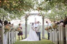 Beautiful ceremony in the orchard. Farm Images, Farm Wedding, Wedding Ideas, Real Weddings, Dolores Park, Table Decorations, Farms, Beautiful, Letters