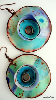 Polymer clay earrings van AnarinaAnar op Etsy