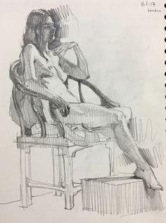 Life drawing, figure sketch in graphite. 11.5.17. Sarah Sedwick