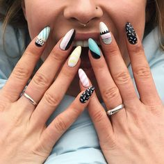 Expand fashion to your nails by using nail art designs. Worn by fashionable stars, these nail designs can incorporate instantaneous allure to your wardrobe. Nail Design Stiletto, Nail Design Glitter, Simple Nail Designs, Beautiful Nail Designs, Nail Art Designs, Pastel Nails, Pink Nails, Hair And Nails, My Nails