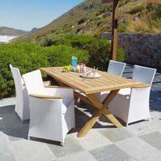 Table de jardin rectangulaire teck 180 GUERNESEY - Collection 2013