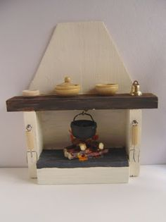 Making Dolls House Miniatures: HOW TO MAKE A MINIATURE OPEN FIREPLACE FOR YOUR DOLL'S HOUSE