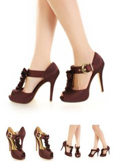"""""""Brown Heels"""" AHHH!! They make you look like you have Barbie feet! :D"""
