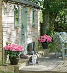 Old railway carriage converted to a little garden shed