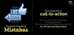 Facebook Marketing Mistakes Facebook Marketing, Social Media Marketing, Call To Action, Mistakes, Engagement, Engagements