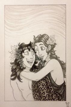Fedini/tumblr -  Dionysus and Ariadne