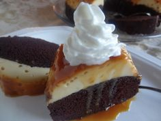 chocolate flan cake by Tia Maria