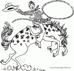 Cowboy Coloring Pages | Wild wild west!!! | Pinterest | Cowboys