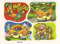 Oscar Mayer Weiner(mobile) Stickers - 1980s? by JasonLiebig, via Flickr
