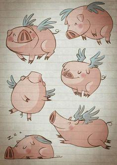 Porquinho voador  -Corações Quebrados