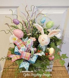 Easter Bunny Centerpiece-Easter Table Arrangement-Easter