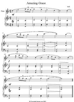 Amazing Grace sheet music for Flute
