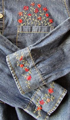 Denim embroidery inspiration