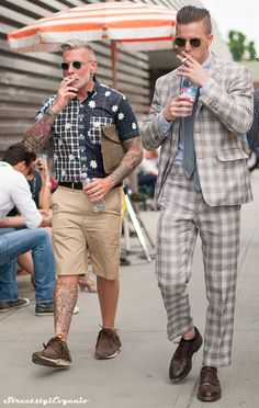 nick wooster × Lance Jubel streetstyle pitti Think this is the worst Wooster ever looked.