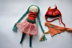 darling little lu doll 13ish sweet girl cloth doll by humbletoys