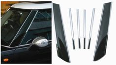 WCS 971045 Mini Cooper Pillar Post Covers Trim ABS Plastic Chrome Plated 6PC Set #WCS