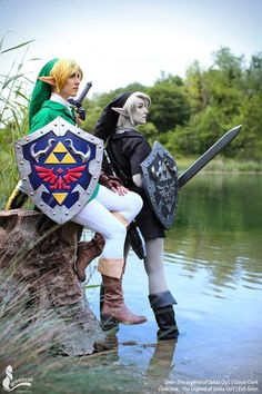 Link and Dark Link Cosplay