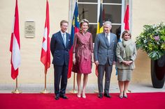 Queen Mathilde and King Philippe visited Grand Duke Henri and Grand Duchess Maria Teresa in Luxemburg/  26 Septembre 2017