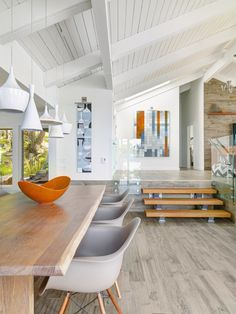 Johnson McLeod Pender Island Cabin - West Wind supplied the stair treads. via Western Living