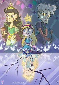 Festivia the adopted daughter for the Butterfly family and replacing Meteora because she's half monster Starco, Butterfly Family, Star Butterfly, Star Y Marco, Princess Star, Star Force, Star Comics, How To Make A Pom Pom, Cartoon Crossovers