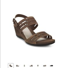 Ecco Touch 45 wedge beige sandals size 39 I always receive compliments on these sandals however I have not worn them enough. In great condition with a bit of wear showing on the insoles. Ecco Shoes Sandals