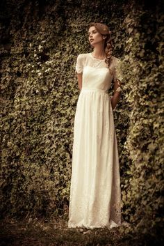 #aravakashdan #weddingdress #2014 #vintageweddingdress #brides #lace #silk #modestweddingdress #whitedress