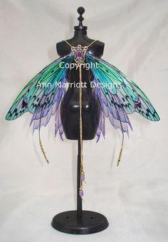 OOAK Fairy Pixie Bear BJD Transparent Artist Doll Harness Wings