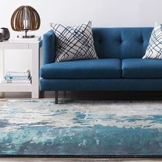 Surya Banshee rug in Teal and Moss