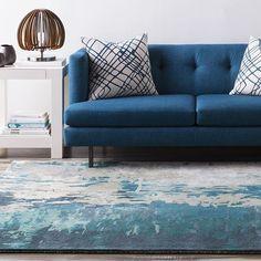 Surya Banshee rug in Teal and Moss