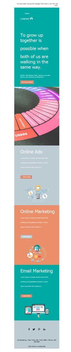 El diseño responsive en las plantillas newsletter hará que tu empresa de Marketing y Publicidad tenga una conversión de ventas mayor, ¡ya lo verás!