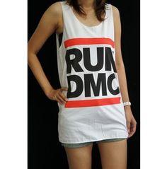 RUN DMC Shirt King Rock Rap Men T-shirt Tank Top Ves