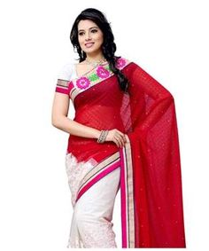 Chiffon Jacquard Saree with Blouse   I found an amazing deal at fashionandyou.com and I bet you'll love it too. Check it out!