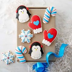 Assorted Winter Cookie Gift Box #williamssonoma