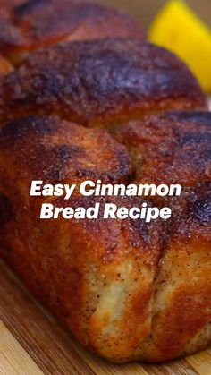 Easy Cinnamon Bread Recipe, Bread Recipes, Cooking Recipes, Breakfast Recipes, Dessert Recipes, Delicious Desserts, Yummy Food, Cinnabon, Dessert Bread