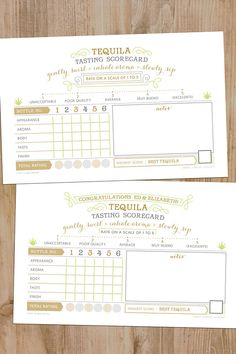 our scorecard is perfect for tequila tasting events! Mezcal Tequila, Tequila Tasting, Best Tequila, Wine Tasting, 30th Birthday Quotes, 50th Birthday Gag Gifts, Wife Birthday, Birthday Images, Birthday Greetings