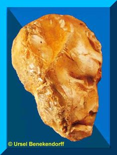 Flint Figure and hand axe preform, Groß Pampau archaeological site, Germany - Ursel Benekendorff Collection