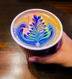 Colors make life look better! Coffee Latte Art, Coffee Barista, Coffee Drinks, Coffee Shop, Coffee Lovers, Coffea Arabica, Food Dye, Coffee Design, Indian Food Recipes