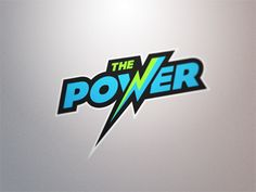The Power by Fraser Davidson Typography Logo, Logo Branding, Creative Logo, Creative Design, Power Logo, Hero Logo, Background Wallpaper For Photoshop, Game Logo Design, Logo Design Trends