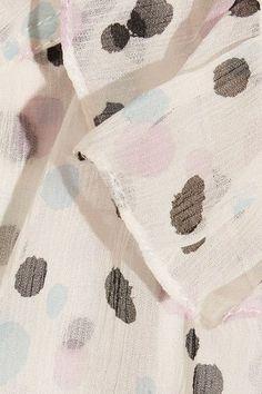 Maiyet - Printed Silk-gauze Blouse - White - US12