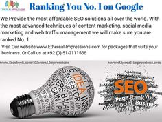 The most affordable #SEO.  Rank yourself  No. 1 on Google,  Yahoo and Bing